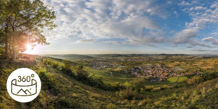Kampagnen Fotografie Stuttgart und Umgebung, Tourismus, Remstal, Kleinheppacher Kopf, Panorama, CMT Kampagne