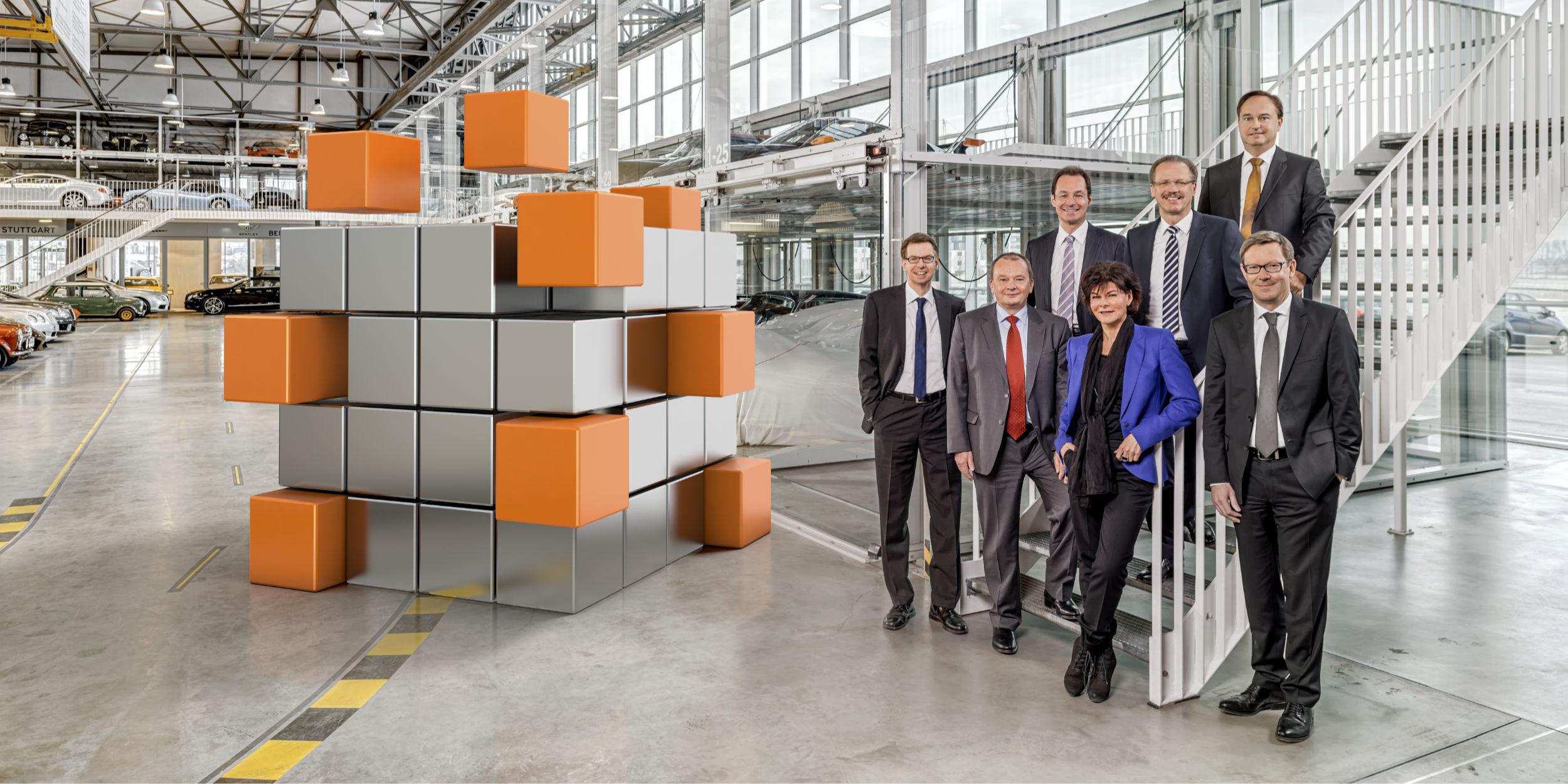 Kampagnen Fotografie Stuttgart und Umgebung Daimler AG CGI Zauberwürfel gemischt mit realer Umgebung der Motorworld Böblingen