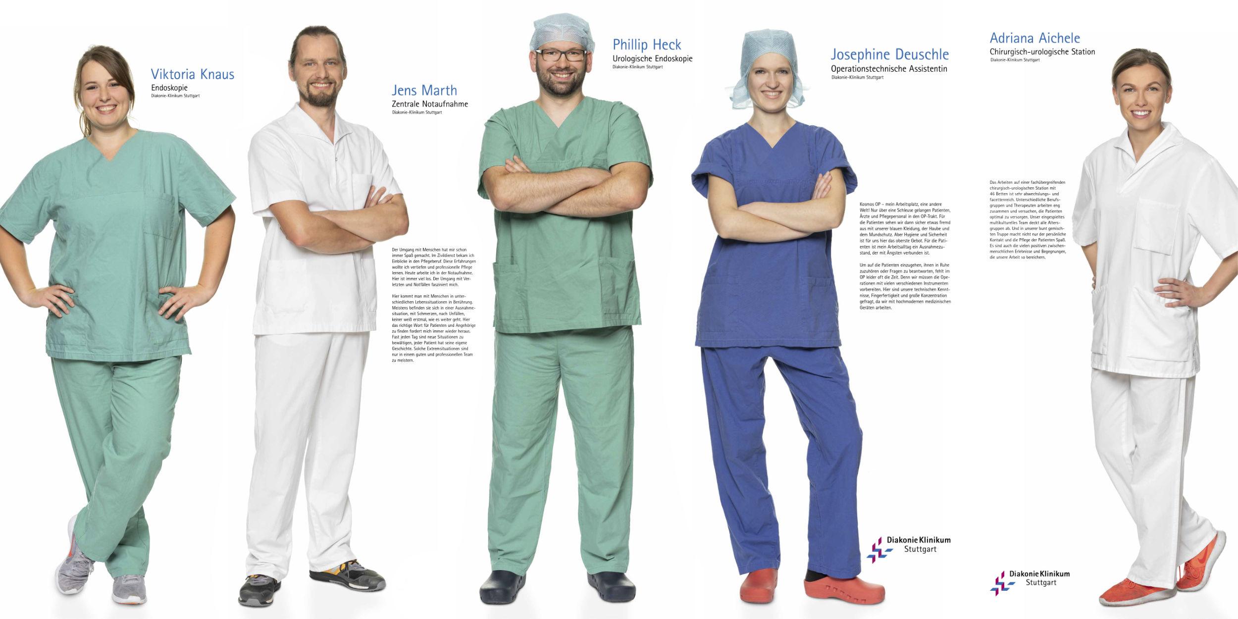 Kampagnen Fotografie Stuttgart und Umgebung Diakonie-Klinikum Stuttgart Mitarbeiter Pfleger Endoskopie Zentrale Notaufnahme Urologische Endoskopie Operationstechnische Assistentin Chirurgisch-Urologische Assistentin