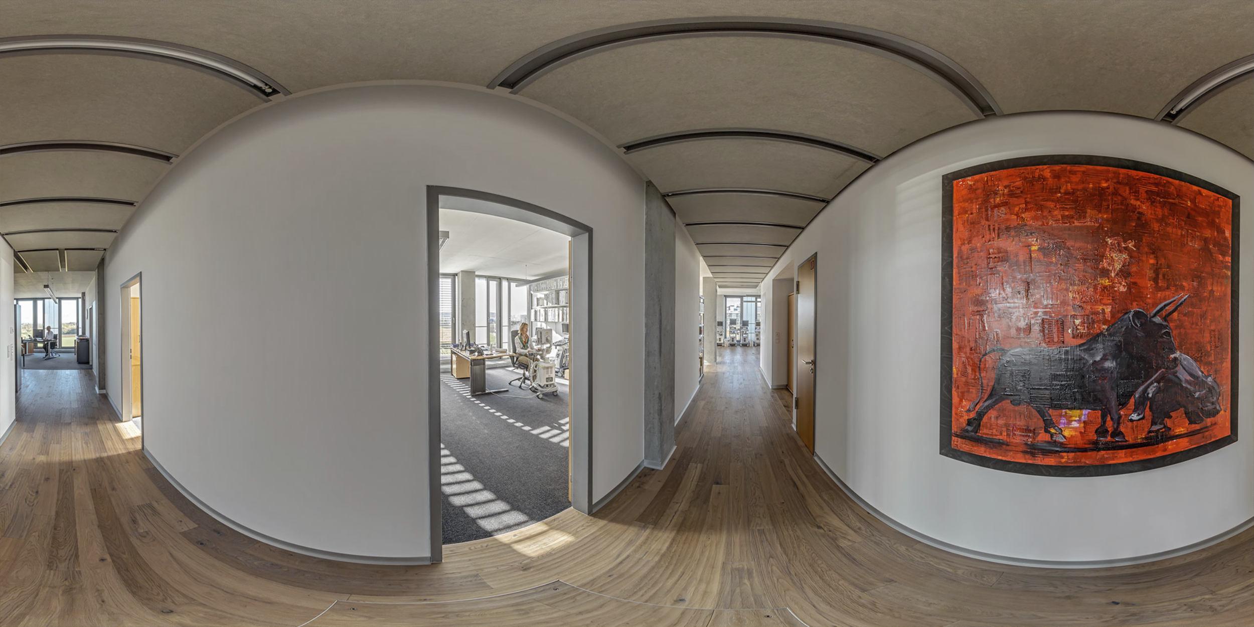 Panoramafotografie Virtuelle Touren 360Grad Fotografie Stuttgart und Umgebung Panorama 360°x180° Sphäre Virtuelle Tour durch die Räumlichkeiten von DORMED Stuttgart in Leinfelden Echterdingen
