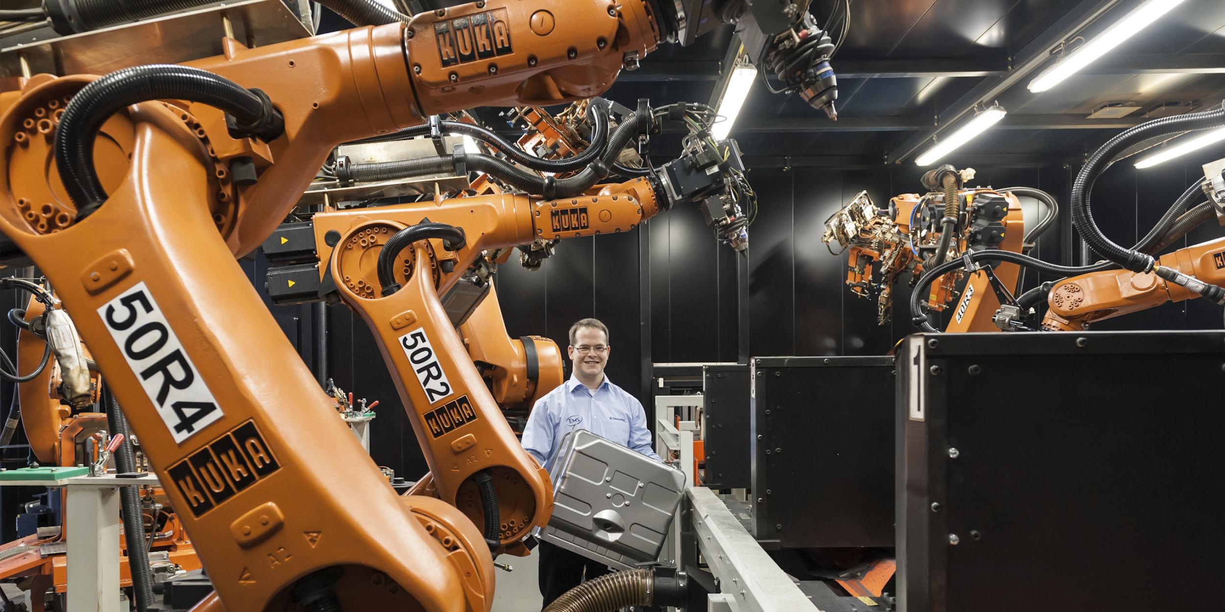 Industriefotografie Stuttgart und Umgebung Electrolux Portrait KUKA Roboter Rothenburg ob der Tauber