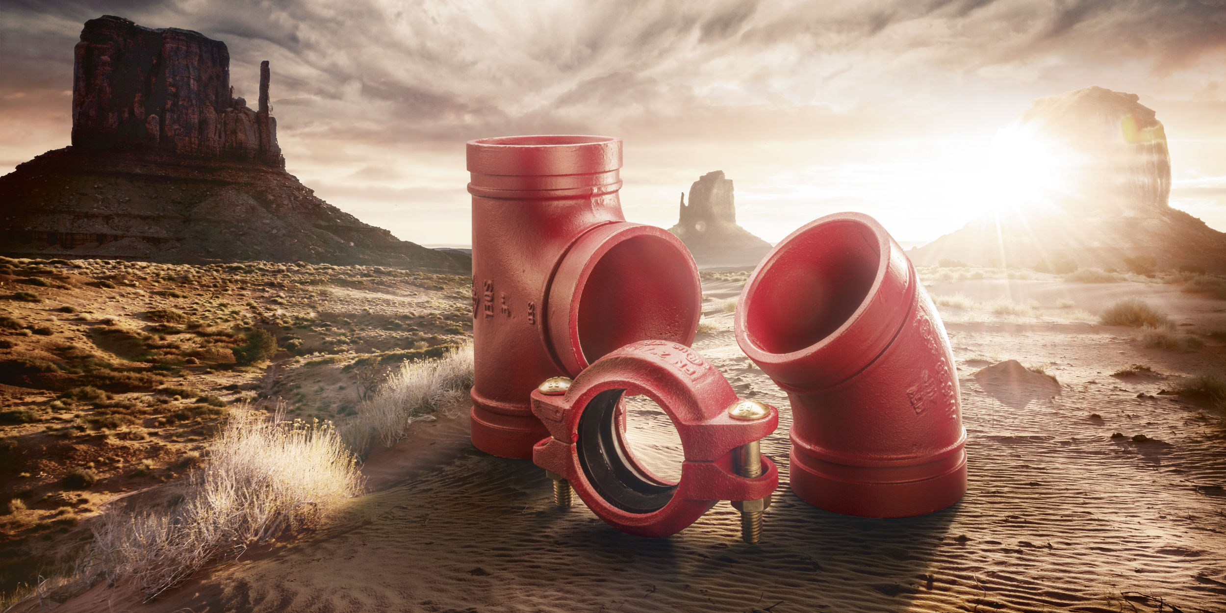 Kampagnen Fotografie Fellbach Stuttgart und Umgebung W52 JM Jäger Technology To Connect Stahlrohre Rohrverbinder Wüste Rote Rohre