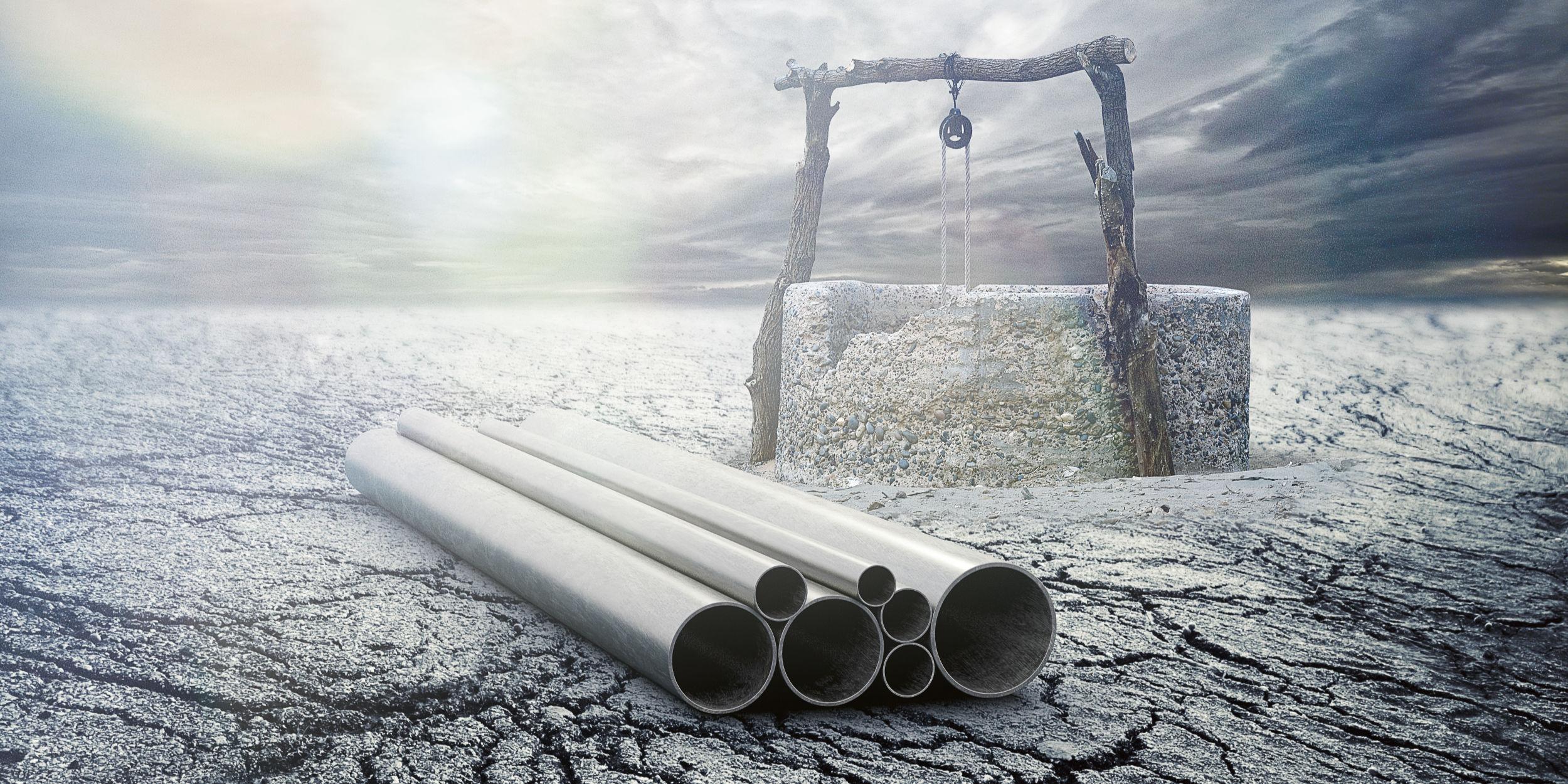 Kampagnen Fotografie Fellbach Stuttgart und Umgebung W52 JM Jäger Technology To Connect Brunnen Trockener Boden Stahlrohre