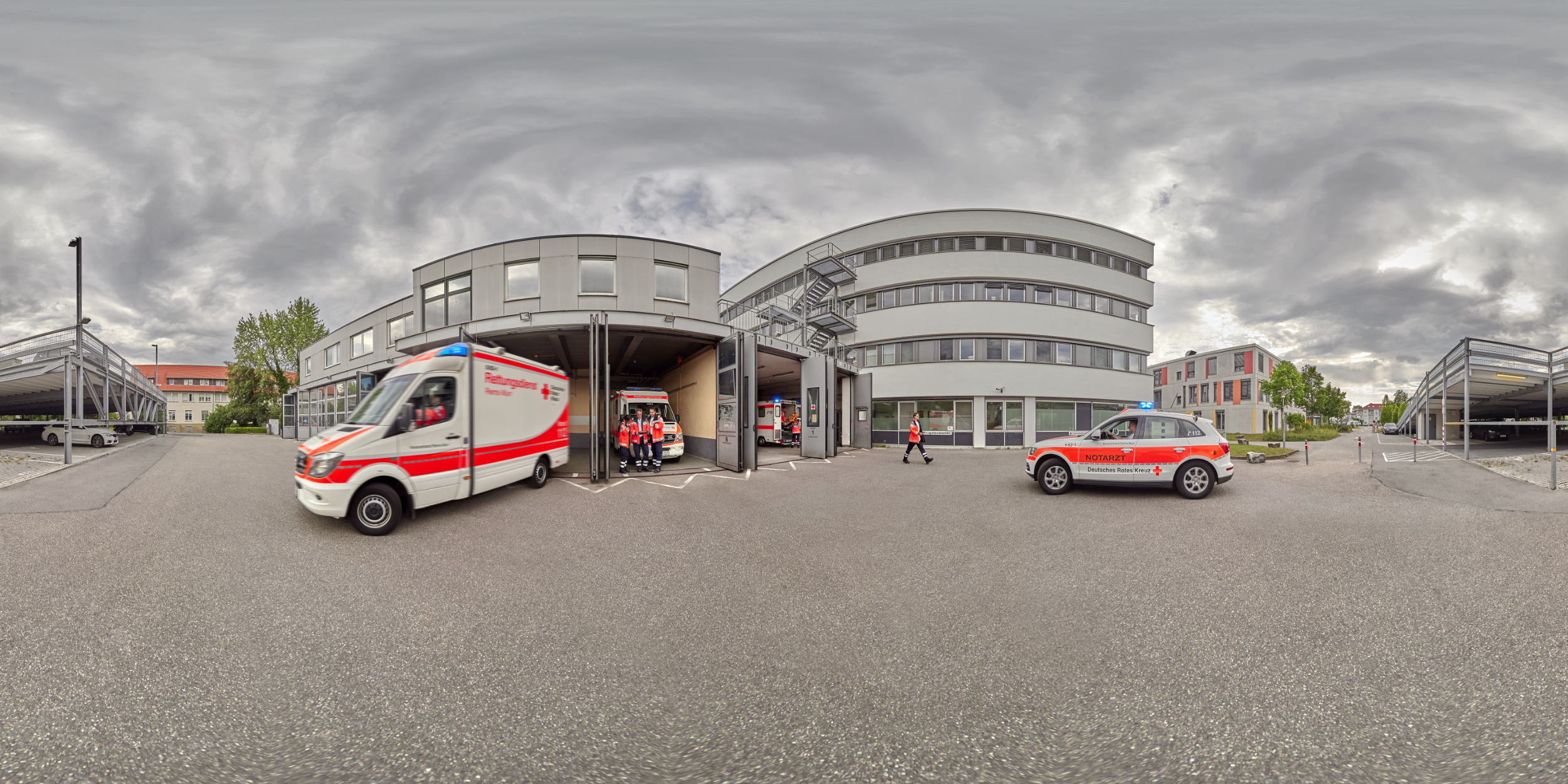 Panoramafotografie Virtuelle Touren 360Grad Fotografie Stuttgart und Umgebung Panorama 360°x180° Sphäre Virtuelle Tour durch das Rems-Murr Klinikum Winnenden und Schorndorf Rettungsleitstelle
