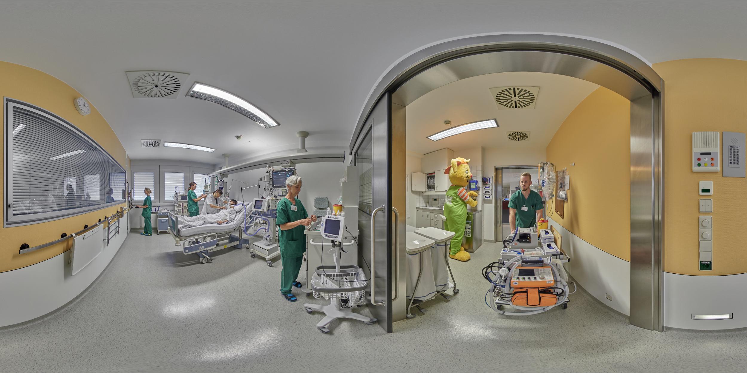 Panoramafotografie Virtuelle Touren 360Grad Fotografie Stuttgart und Umgebung Panorama 360°x180° Sphäre Virtuelle Tour durch das Rems-Murr Klinikum Winnenden und Schorndorf