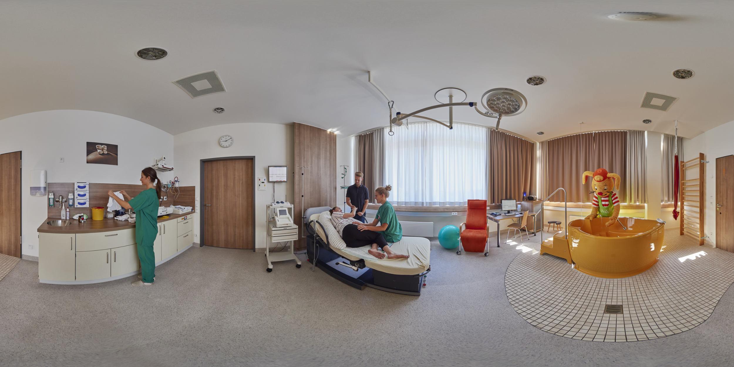Panoramafotografie Virtuelle Touren 360Grad Fotografie Stuttgart und Umgebung Panorama 360°x180° Sphäre Virtuelle Tour durch das Rems-Murr Klinikum Winnenden und Schorndorf Kreissaal