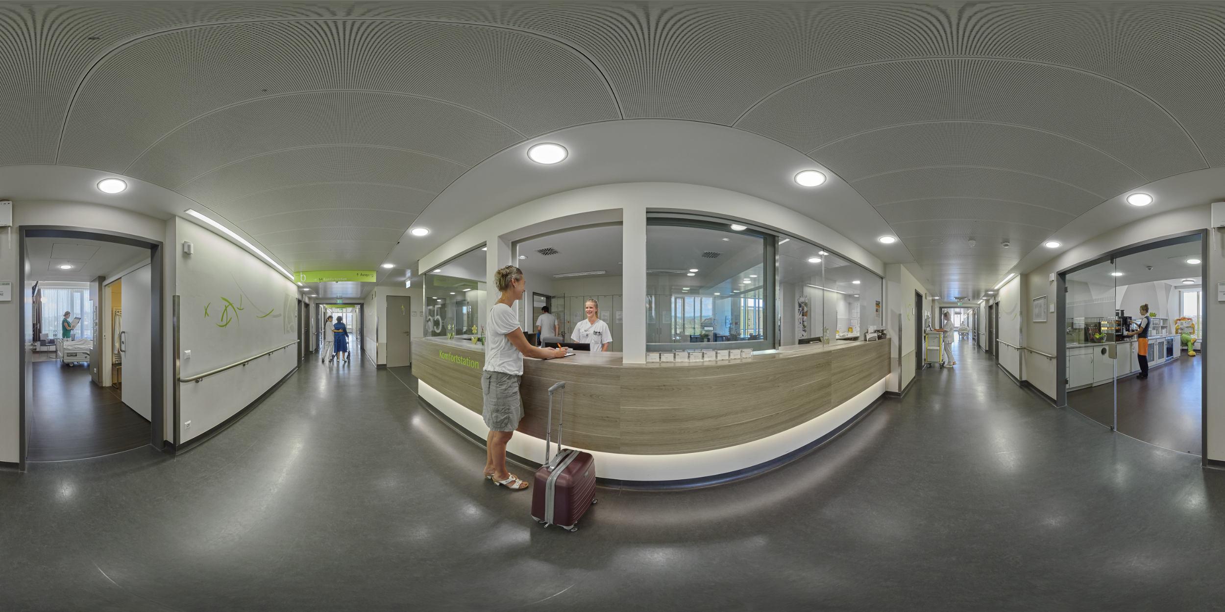 Panoramafotografie Virtuelle Touren 360Grad Fotografie Stuttgart und Umgebung Panorama 360°x180° Sphäre Virtuelle Tour durch das Rems-Murr Klinikum Winnenden und Schorndorf Komfortstation