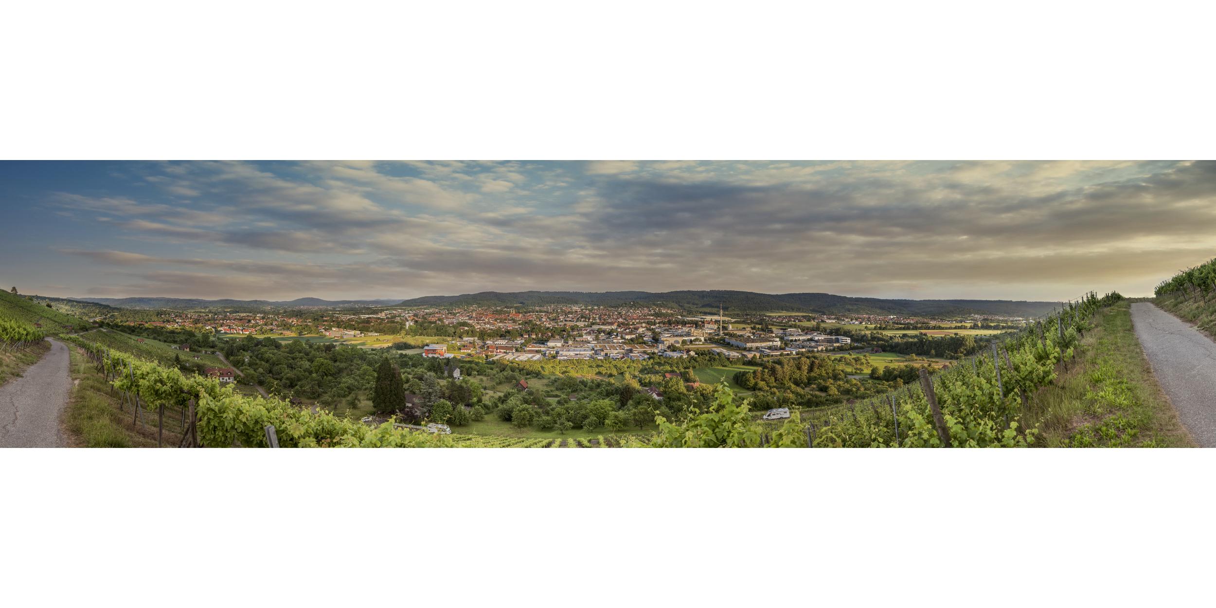 Panoramafotografie Virtuelle Touren 360Grad Fotografie Stuttgart und Umgebung 180° Gigapixel Teilpanorama Schorndorf Grafenberg Abendstimmung