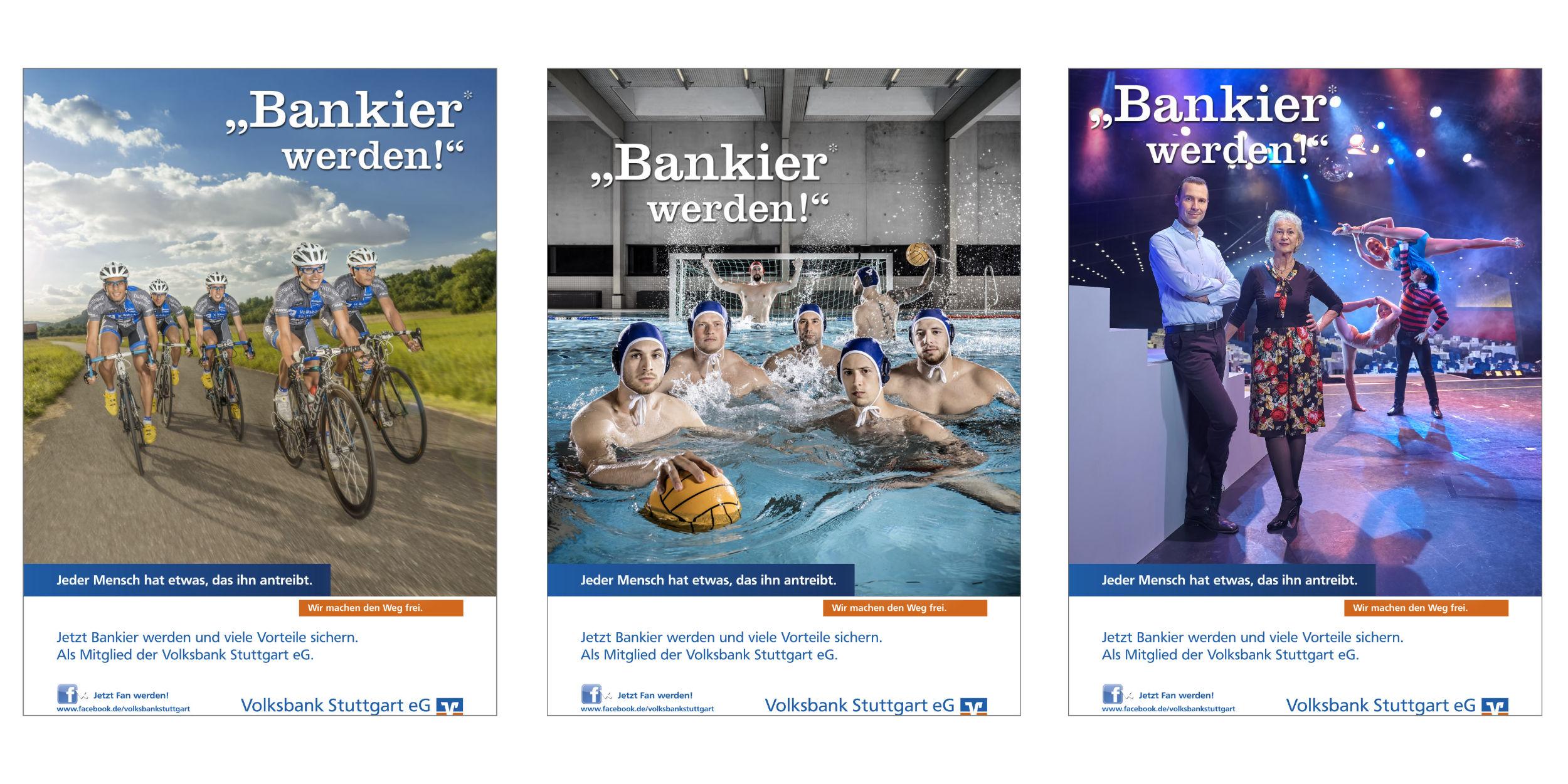 Kampagnen Fotografie Volksbank Stuttgart eG Bankier werden! Stuttgart und Umgebung