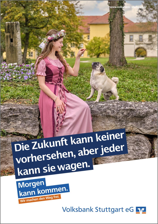 Kampagnen Fotografie Stuttgart und Umgebung Volksbank Stuttgart e.G. Winnender Mädele 2020 Mops Willi Schlosspark Winnenden Klinikum Winnenden